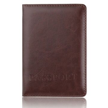 Обложка для паспорта, коричневая П1410