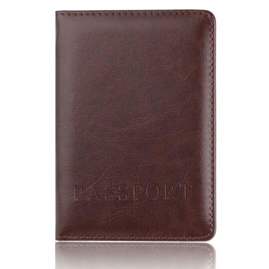 Обложки для паспорта - Обложка для паспорта, коричневая П1410