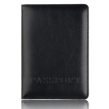 Обложка для паспорта, черная П1411