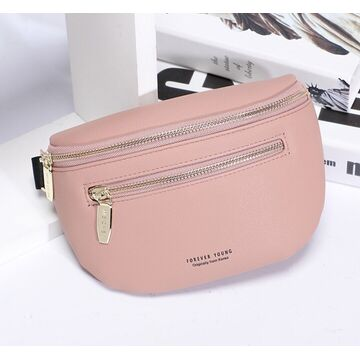 Женская поясная сумка, бананка Petrichor, розовая П1413