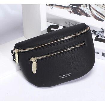 Женская поясная сумка, бананка Petrichor, черная 1417