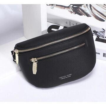 Женская поясная сумка, бананка WEICHEN, черная П1417