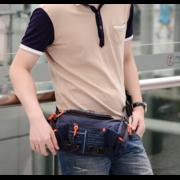 Мужские аксессуары - Сумка мужская на пояс, на плечо, зеленая П1429
