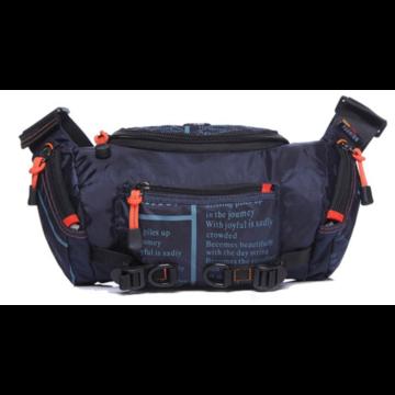 Мужские аксессуары - Сумка мужская на пояс, на плечо, синяя П1430