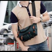 Мужские аксессуары - Сумка мужская на пояс, на плечо, зеленая П1432