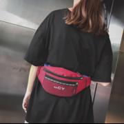 Поясные сумки - Женская поясная сумка, бананка, красная П1434