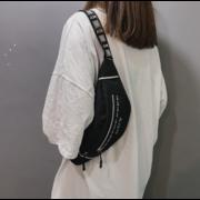 Женская поясная сумка, бананка, черная П1436