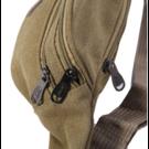 Поясные сумки - Сумка поясная, бананка, коричневая П1447