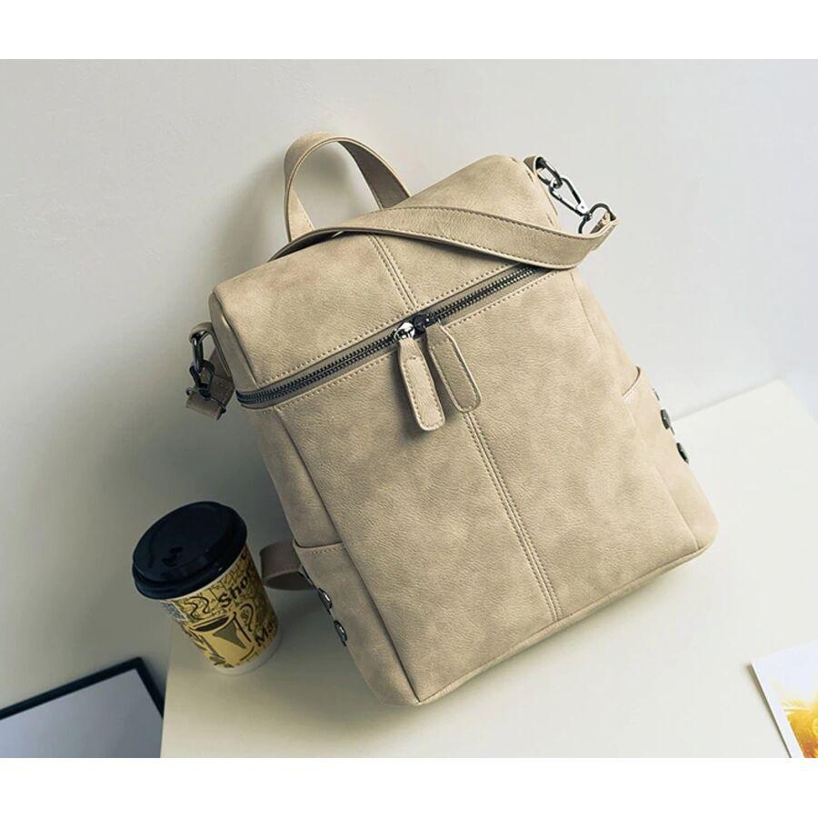Женские рюкзаки - Женский рюкзак, бежевый 0045