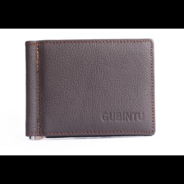 Зажим для денег, кошелек GUBINTU, коричневый П1453
