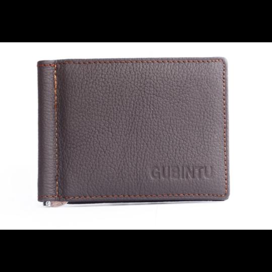 Мужские кошельки - Зажим для денег, кошелек GUBINTU, коричневый П1453