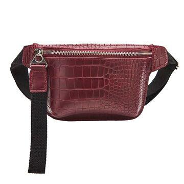Женская поясная сумка, бананка, красная П1457