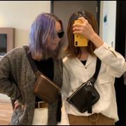 Женская поясная сумка, бананка, черная П1458