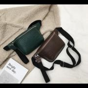 Поясные сумки - Женская поясная сумка, бананка, бежевая П1459