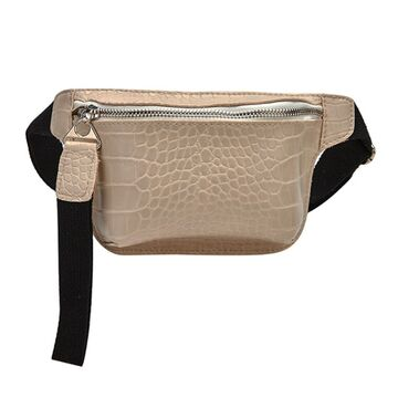 Женская поясная сумка, бананка, бежевая П1459