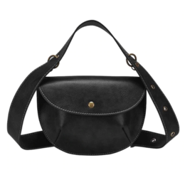 Женская поясная сумка, бананка, черная 1464