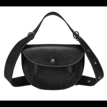 Женская поясная сумка, бананка, черная П1464