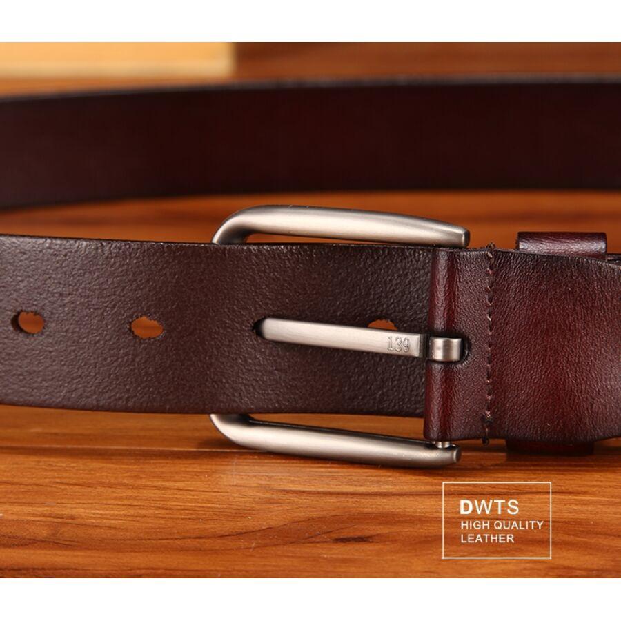 Мужские ремни и пояса - Мужской ремень DWTS, коричневый 0047