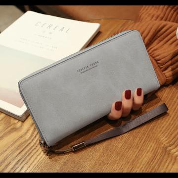 Женский кошелек, серый П1477