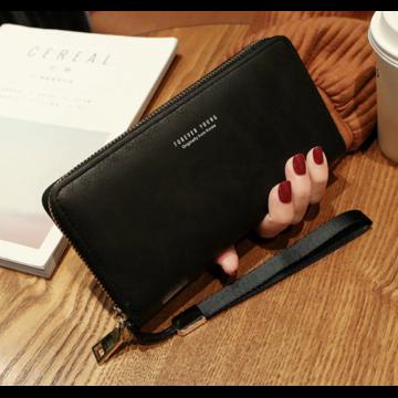 Женский кошелек, черный П1481