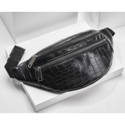 Женская сумка на пояс, бананка RAVIDINO, коричневая П1495