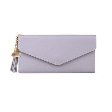 Женский кошелек, серый П0050