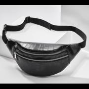 Женская сумка на пояс, бананка RAVIDINO, черная П1498