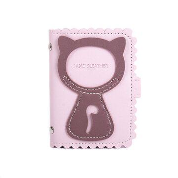 Визитница, картхолдер розовая П1517