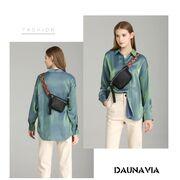 Поясная сумка женская на пояс DAUNAVIA, зеленая П1545