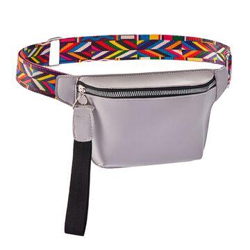 Поясная сумка женская на пояс DAUNAVIA, серая П1546