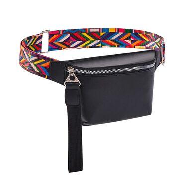Поясные сумки - Поясная сумка женская на пояс DAUNAVIA, черная П1547