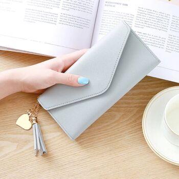 Женский кошелек, серый 0055