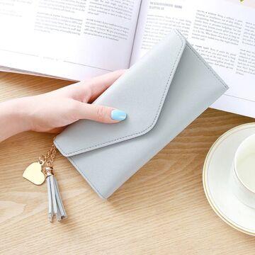 Женский кошелек, серый П0055