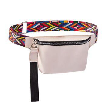 Поясная сумка женская на пояс DAUNAVIA, бежевая П1548