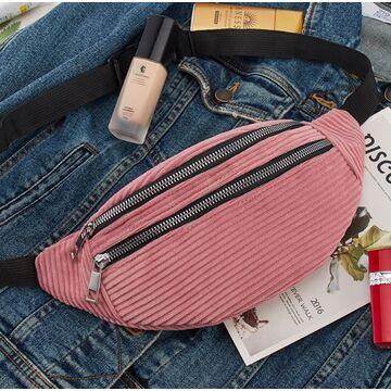 Женская сумка, банан DAUNAVIA, розовая П1554