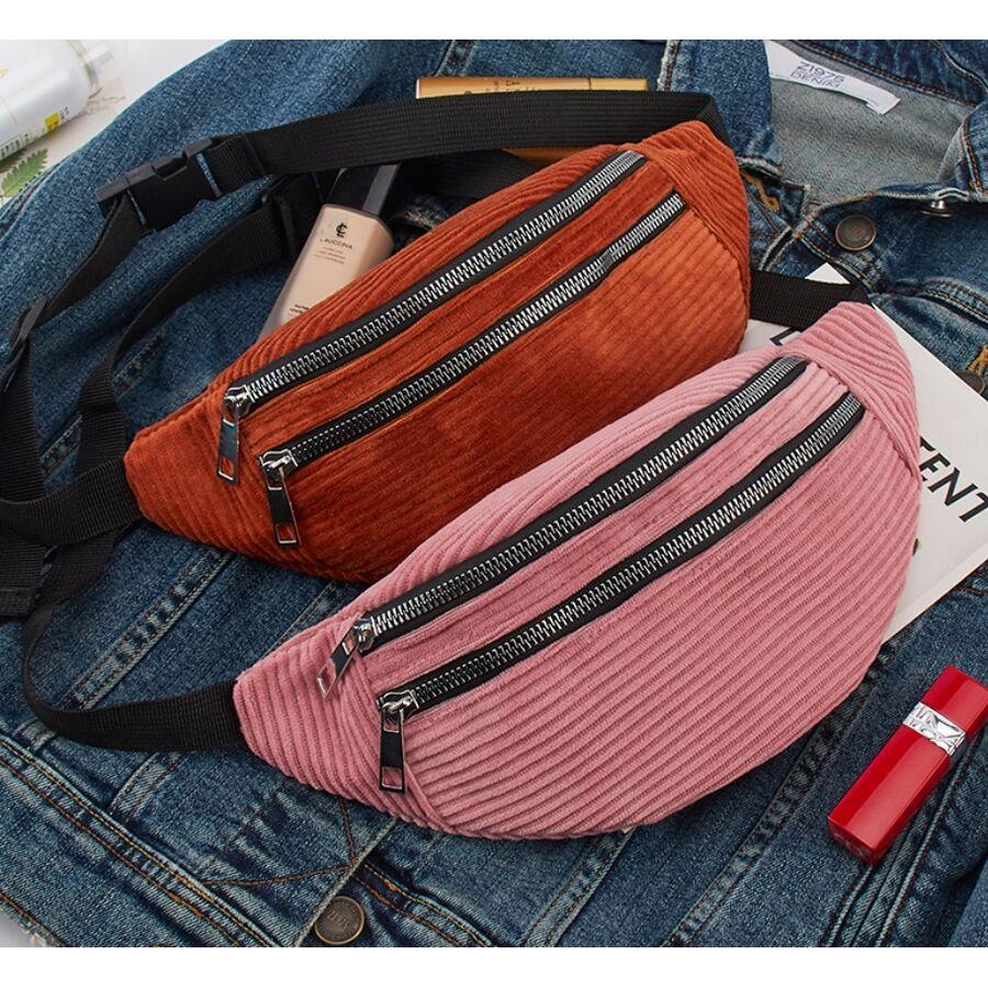 Поясные сумки - Женская сумка, банан DAUNAVIA, коричневая П1555