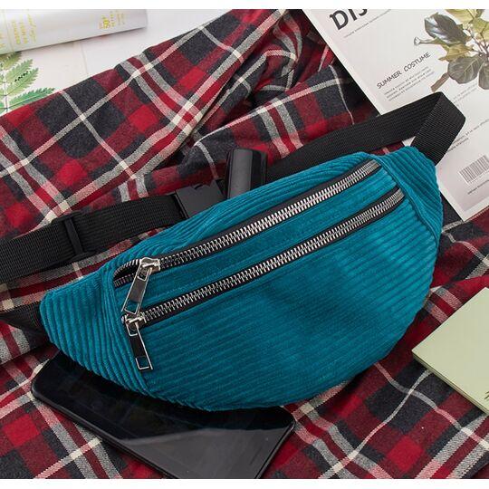 Поясные сумки - Женская сумка, банан DAUNAVIA, синяя П1556