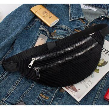Женская сумка, банан DAUNAVIA, черная П1557