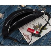 Поясные сумки - Женская сумка, банан DAUNAVIA, черная П1557