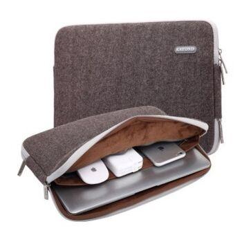 Сумка чехол для ноутбука коричневая П1565