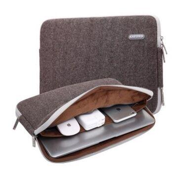 Сумки для ноутбуков - Сумка чехол для ноутбука коричневая П1565