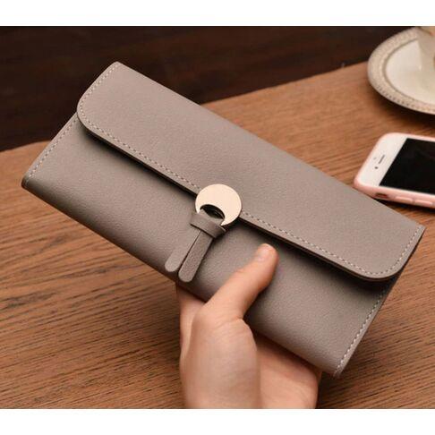 Женские кошельки - Женский кошелек, серый 0058