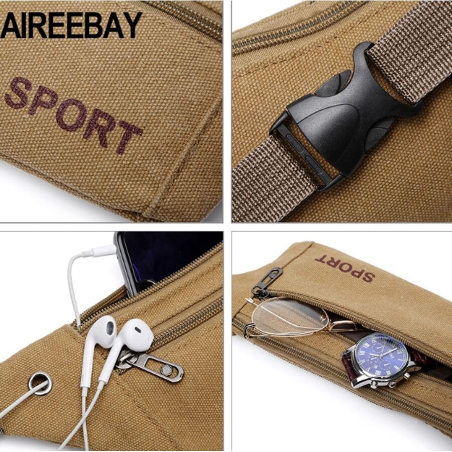 Поясные сумки - Сумка банан, на пояс AIREEBAY, коричневая П1583