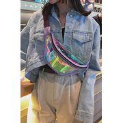 Поясные сумки - Женская сумка, банан, голубая П1603