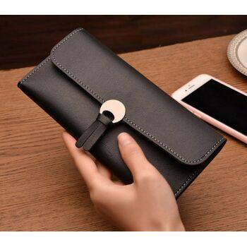 Женский кошелек, черный П0061