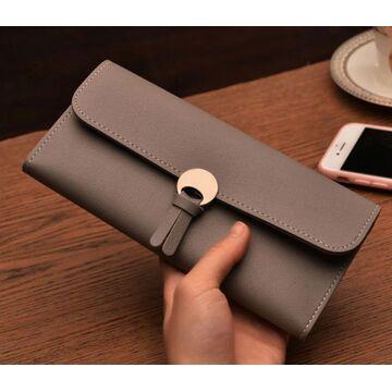 Женский кошелек, серый П0062