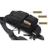 Поясная сумка мужская, черная, П1621