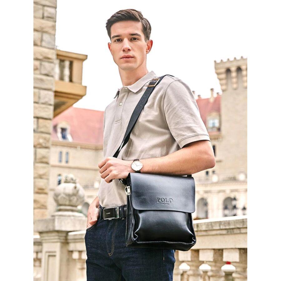 Мужские сумки - Мужская сумка VICUNA POLO, черная 0064