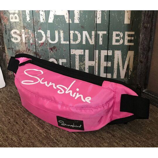 """Поясные сумки - Сумка на пояс, бананка """"Senkey"""" розовая П1639"""