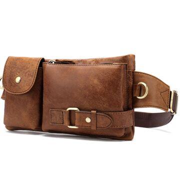 Поясная сумка мужская WESTAL , коричневая П1653